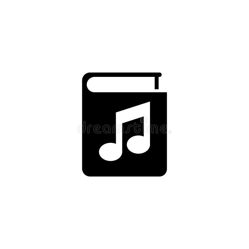 Ακουστικό βιβλίο, επίπεδο διανυσματικό εικονίδιο Ebook ελεύθερη απεικόνιση δικαιώματος