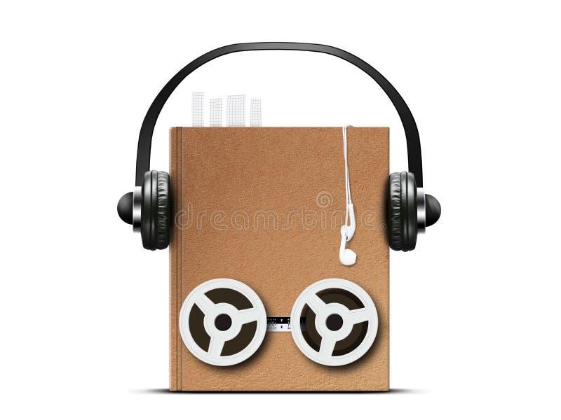 Ακουστικό βιβλίο στοκ εικόνες με δικαίωμα ελεύθερης χρήσης
