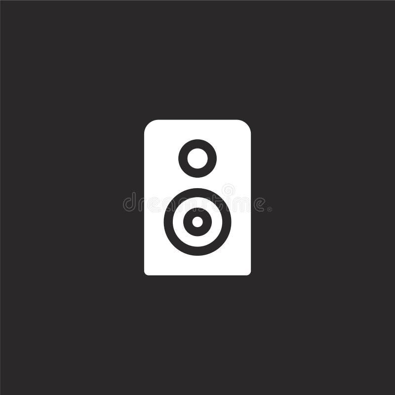 ακουστικό εικονίδιο Γεμισμένο ακουστικό εικονίδιο για το σχέδιο ιστοχώρου και κινητός, app ανάπτυξη ακουστικό εικονίδιο από τη γε απεικόνιση αποθεμάτων