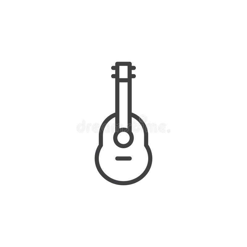 Ακουστικό εικονίδιο γραμμών κιθάρων απεικόνιση αποθεμάτων