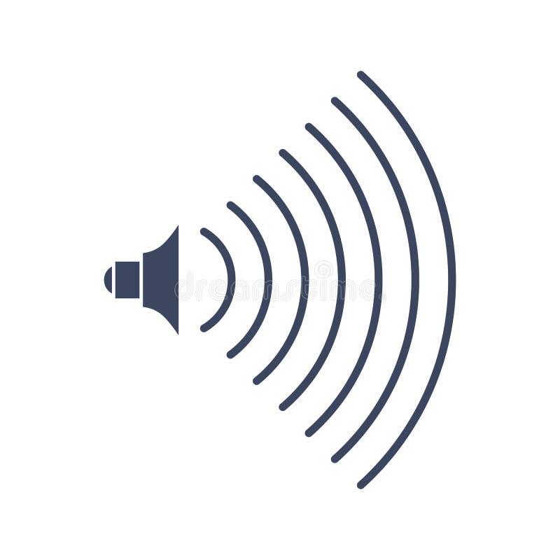 Ακουστικό εικονίδιο σημαδιών μουσικής όγκου Σύμβολο για το υγιές επίπεδο ελεύθερη απεικόνιση δικαιώματος