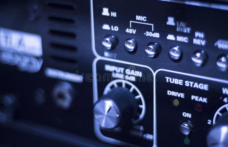 Ακουστικό στούντιο υγιούς καταγραφής στοκ εικόνα