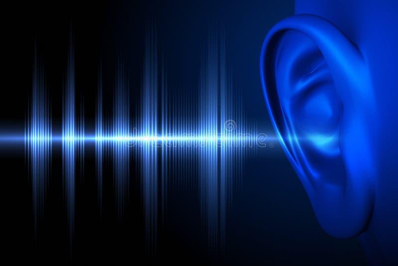 Ακούστε το υγιές κύμα διανυσματική απεικόνιση