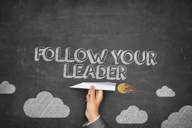 Ακολουθήστε την έννοια ηγετών σας στοκ εικόνες