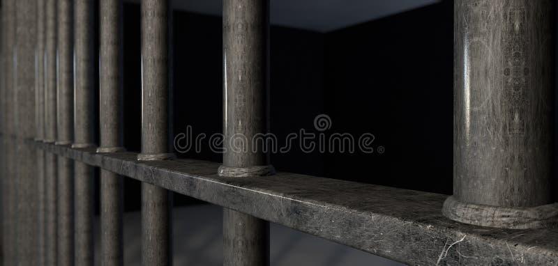 Ακραία κινηματογράφηση σε πρώτο πλάνο φραγμών κυττάρων φυλακών στοκ φωτογραφία με δικαίωμα ελεύθερης χρήσης