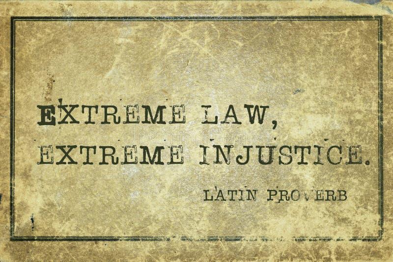 Ακραία παροιμία νόμου στοκ εικόνες