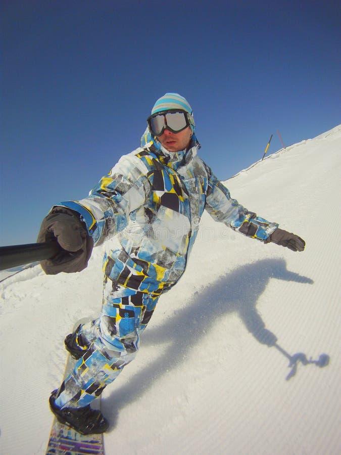 Ακραίος αθλητισμός - snowboarder πορτρέτο στοκ εικόνες με δικαίωμα ελεύθερης χρήσης