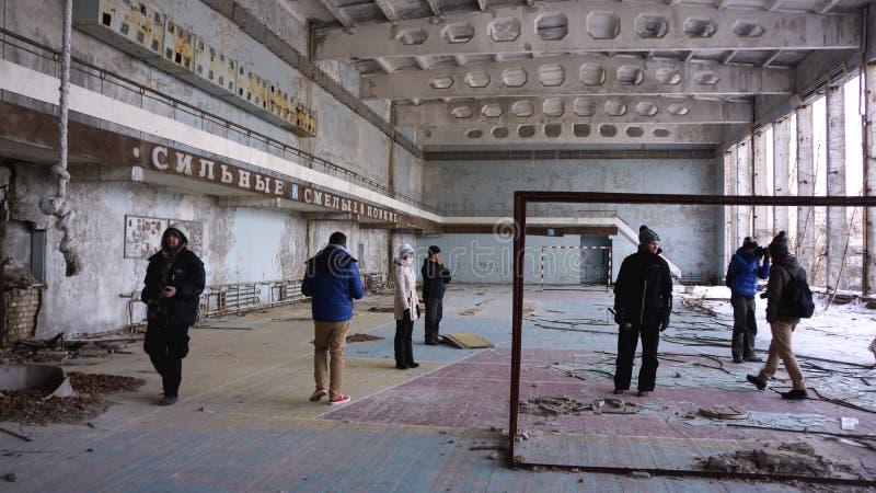 Ακραίος τουρισμός στο Τσέρνομπιλ στοκ φωτογραφίες με δικαίωμα ελεύθερης χρήσης