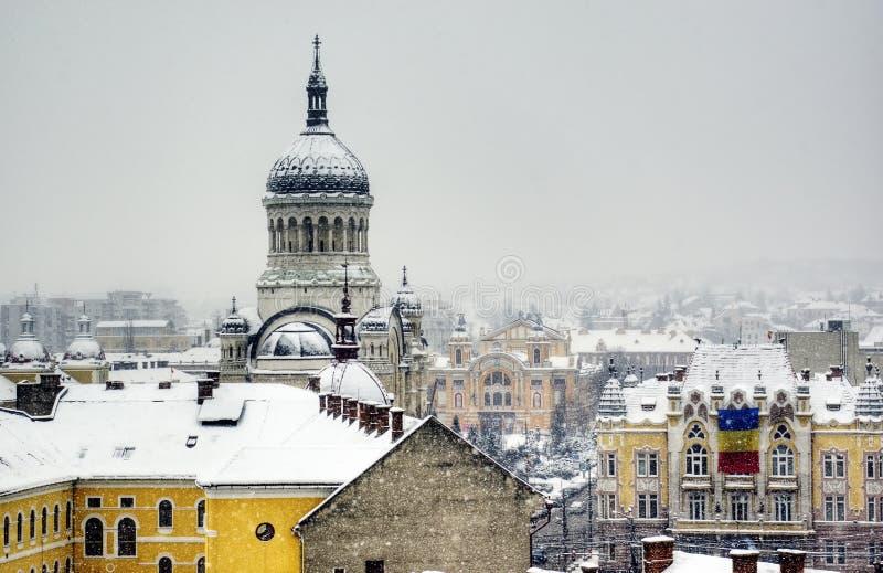 ακραίος χειμώνας της Ευρώπης στοκ εικόνα με δικαίωμα ελεύθερης χρήσης