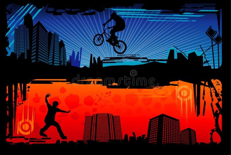 ακραίο αθλητικό διάνυσμα απεικόνιση αποθεμάτων
