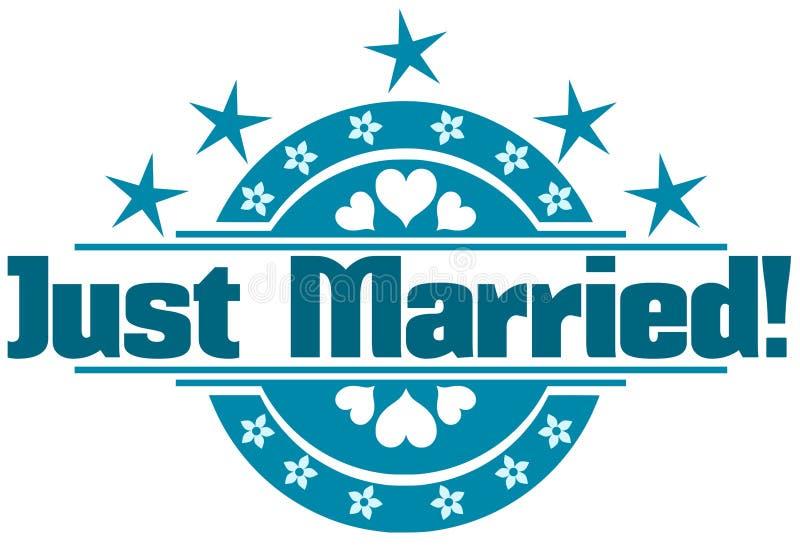 Ακριβώς παντρεμένη ετικέτα ελεύθερη απεικόνιση δικαιώματος