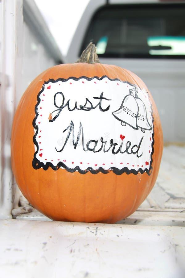 ακριβώς παντρεμένη κολοκ στοκ φωτογραφίες