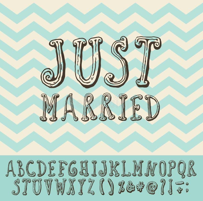 Ακριβώς παντρεμένος εκλεκτής ποιότητας καθιερώνων τη μόδα τύπος πηγών απεικόνισης απεικόνιση αποθεμάτων