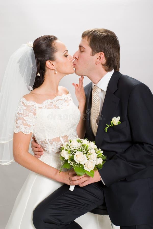 Ακριβώς παντρεμένος. στοκ φωτογραφία