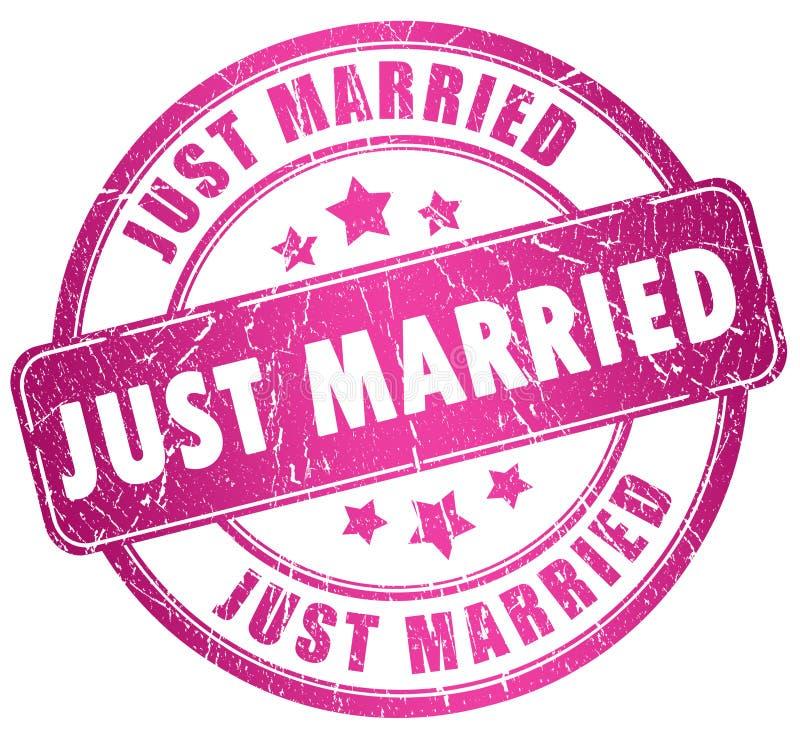 Ακριβώς παντρεμένο γραμματόσημο διανυσματική απεικόνιση