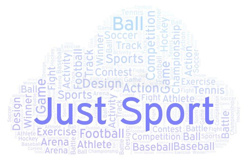 Ακριβώς σύννεφο αθλητικής λέξης ελεύθερη απεικόνιση δικαιώματος