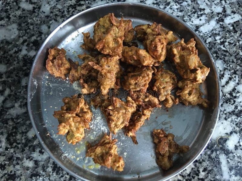 ακριβώς τηγανισμένο Kanda BhajiOnion Pakora Kalyan Maharahtra ΙΝΔΙΑ στοκ εικόνες με δικαίωμα ελεύθερης χρήσης