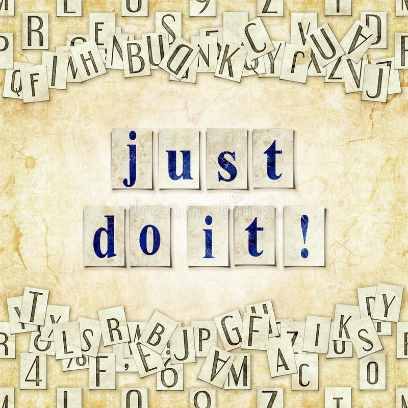Ακριβώς το κάνετε! απεικόνιση αποθεμάτων