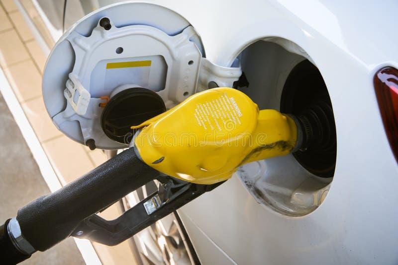 Ακροφύσια αερίου βενζίνης στοκ εικόνα