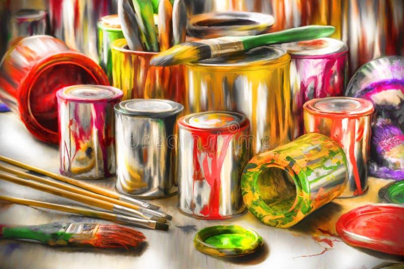 ακρυλικά εργαλεία ζωγρ στοκ φωτογραφίες με δικαίωμα ελεύθερης χρήσης