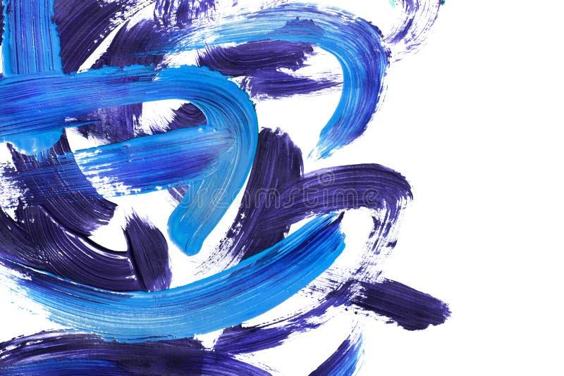 Ακρυλικά κτυπήματα βουρτσών χρωμάτων απεικόνιση αποθεμάτων