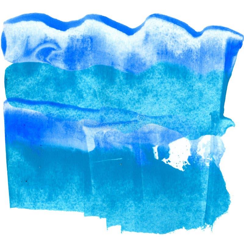 Ακρυλικό υπόβαθρο θάλασσας βουρτσών κατασκευασμένο μπλε ελεύθερη απεικόνιση δικαιώματος