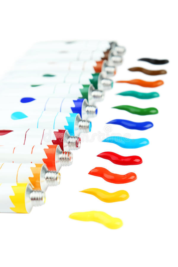 ακρυλικά ζωηρόχρωμα χρώμα&tau στοκ φωτογραφίες