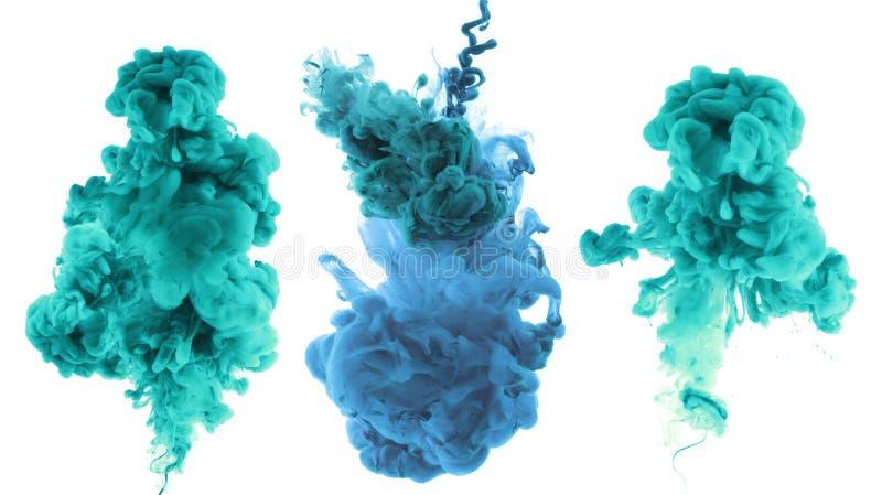 Ακρυλικά χρώματα και μελάνι στο νερό στοκ φωτογραφία