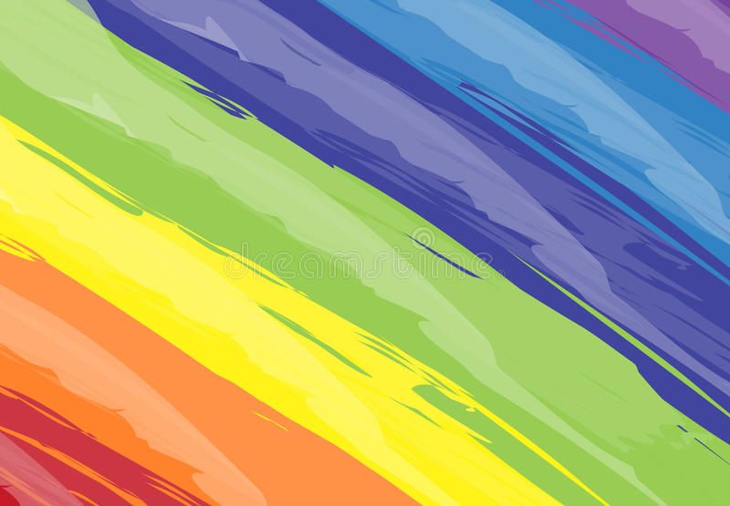Ακρυλικό strok σχεδίου σύστασης χρωμάτων βουρτσών υποβάθρου τέχνης αφηρημένο ελεύθερη απεικόνιση δικαιώματος