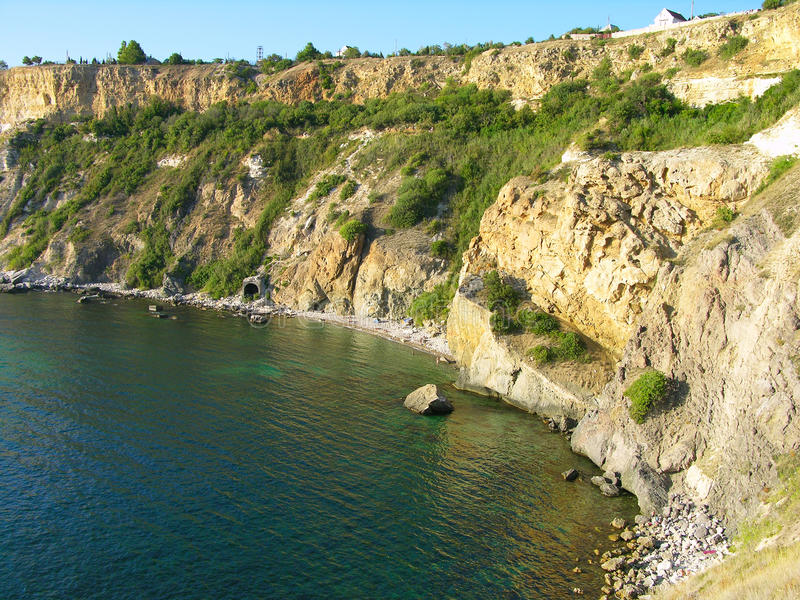 ακρωτήριο Κριμαία παραλιώ& στοκ εικόνα με δικαίωμα ελεύθερης χρήσης