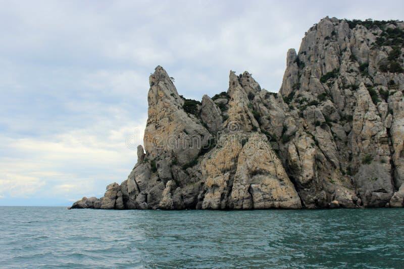 Ακρωτήριο στη Μαύρη Θάλασσα στην Κριμαία, Ουκρανία στοκ εικόνες