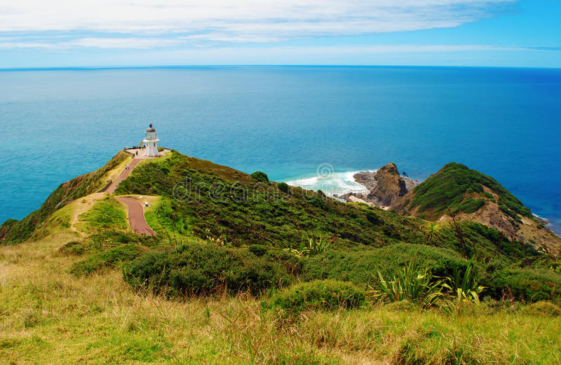 Ακρωτήριο Reinga Νέα Ζηλανδία στοκ εικόνες