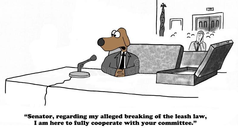 Ακρόαση Επιτροπής Συγκλήτου διανυσματική απεικόνιση