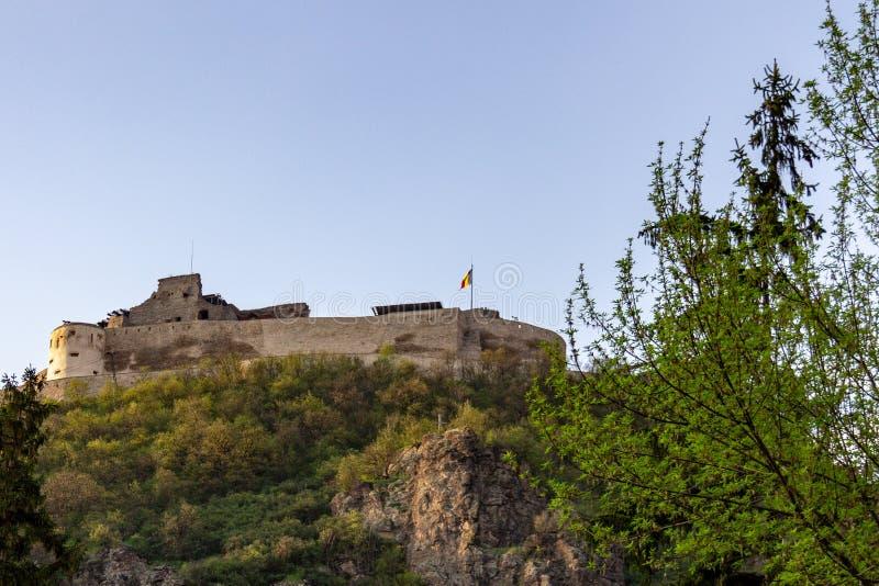 Ακρόπολη Deva στην Τρανσυλβανία, Ρουμανία στοκ εικόνα με δικαίωμα ελεύθερης χρήσης