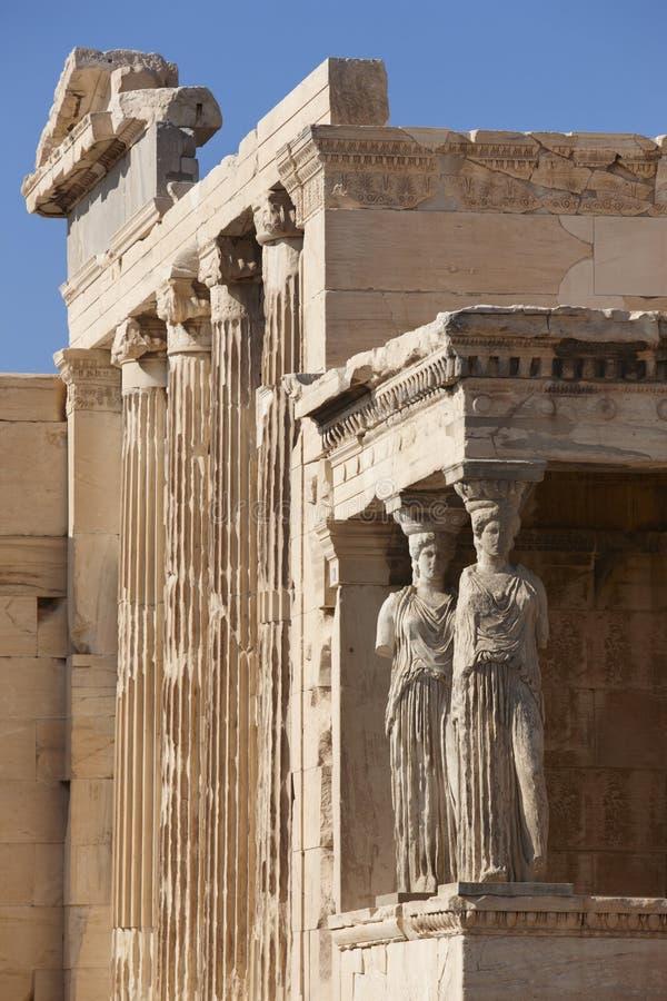 ακρόπολη Αθήνα Παλαιότερος ναός Αθηνάς Polios και Erechthei στοκ εικόνες με δικαίωμα ελεύθερης χρήσης