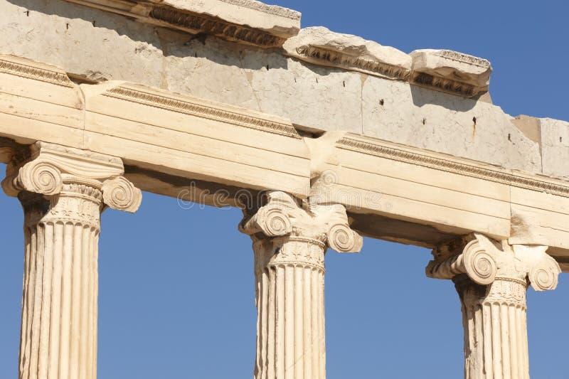 ακρόπολη Αθήνα Στήλες Erechtheion Ελλάδα στοκ φωτογραφία με δικαίωμα ελεύθερης χρήσης