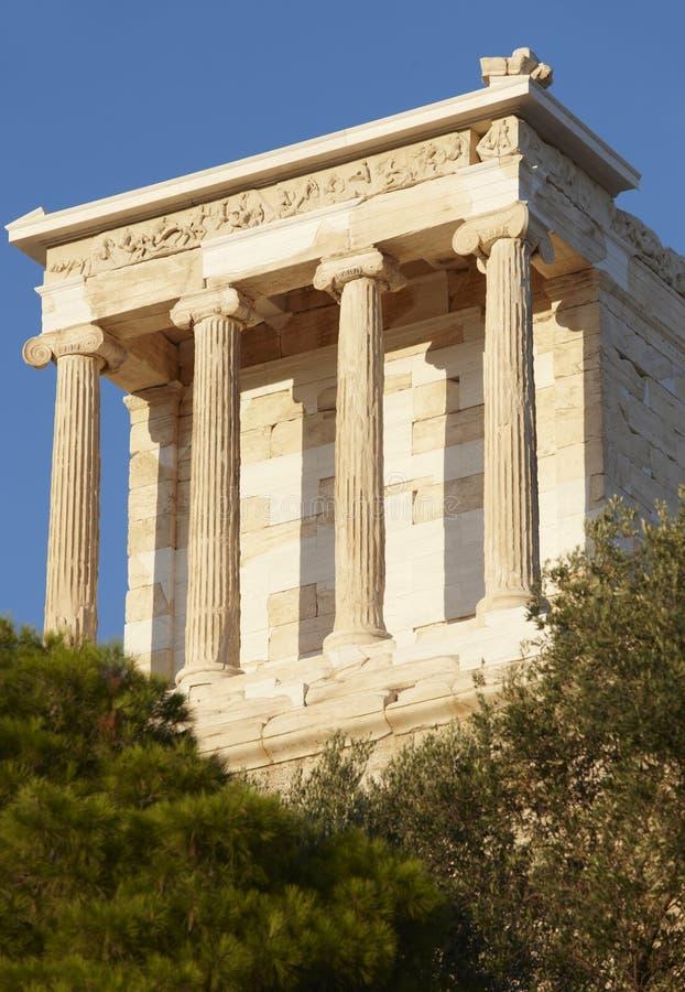 ακρόπολη Αθήνα nike Αθηνάς ναός Ελλάδα στοκ εικόνες με δικαίωμα ελεύθερης χρήσης
