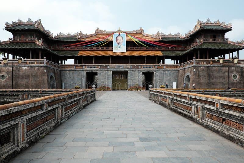 Ακρόπολη χρώματος, κληρονομιά πολιτισμού, Dai Noi, Βιετνάμ, ΜΚΟ mon στοκ φωτογραφία με δικαίωμα ελεύθερης χρήσης