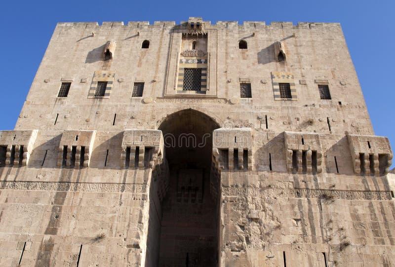 Ακρόπολη Aleppo στη Συρία στοκ φωτογραφίες