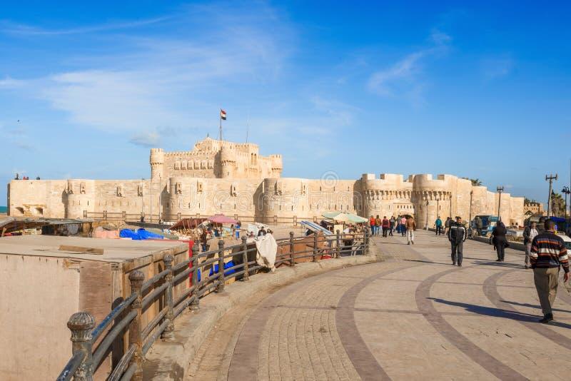 Ακρόπολη Qaitbay στην Αλεξάνδρεια Αίγυπτος στοκ φωτογραφία
