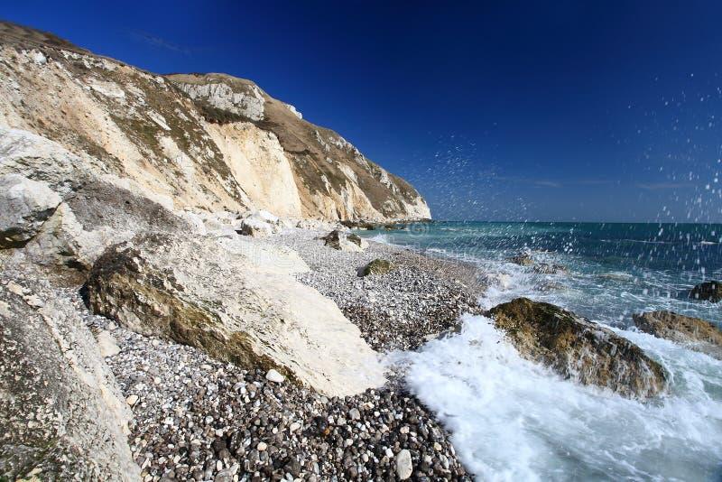 Ακτή Αγγλία του Dorset στοκ εικόνες