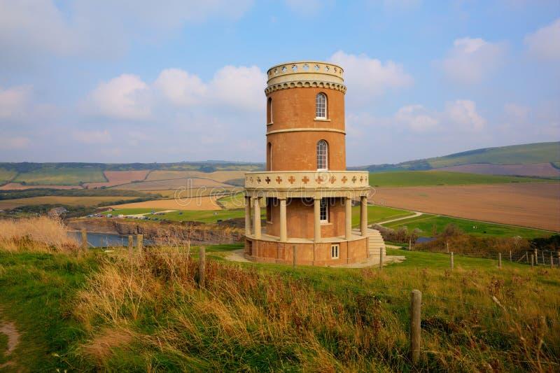 Ακτή Αγγλία UK του Dorset όρμων Lulworth κόλπων Kimmeridge ορόσημων πύργων Clavell ανατολικά στοκ φωτογραφία με δικαίωμα ελεύθερης χρήσης