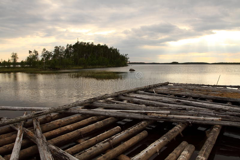 Ακτή λιμνών της Καρελίας στοκ φωτογραφίες με δικαίωμα ελεύθερης χρήσης