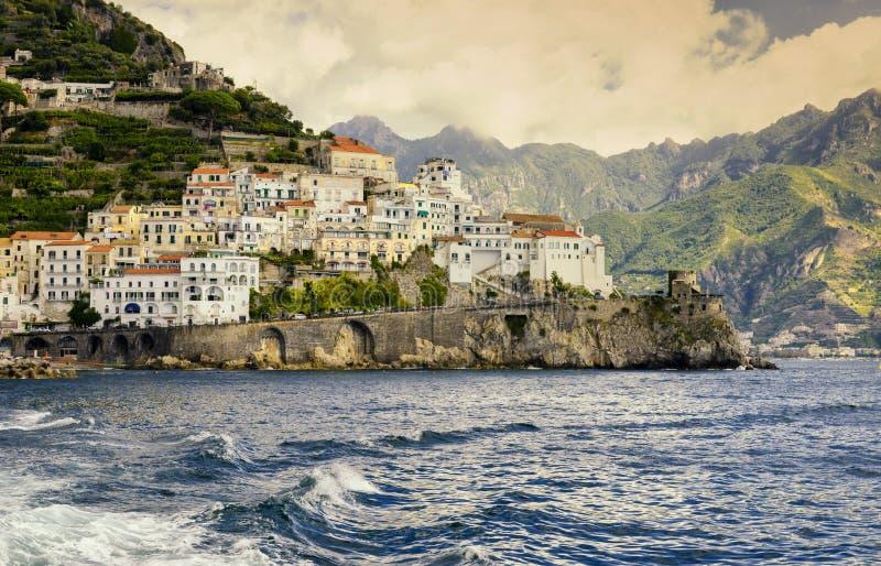 ακτή Ιταλία της Αμάλφης στοκ φωτογραφίες