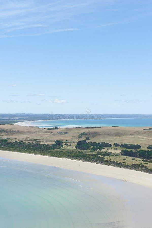Ακτή και παραλίες της Τασμανίας Αυστραλία Stanely στοκ εικόνες