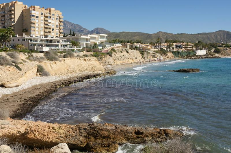 Ακτή κοντά στη EL Campello, Ισπανία στοκ φωτογραφία με δικαίωμα ελεύθερης χρήσης