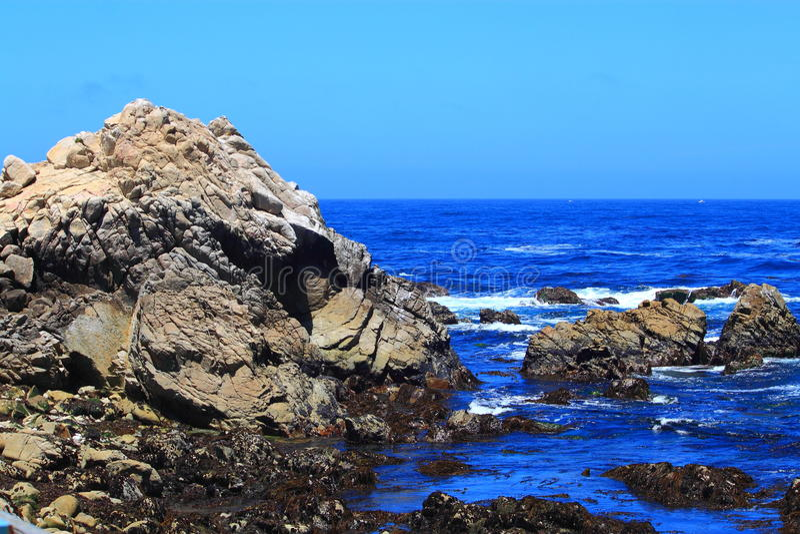Ακτή κόλπων Monterey στοκ φωτογραφία με δικαίωμα ελεύθερης χρήσης
