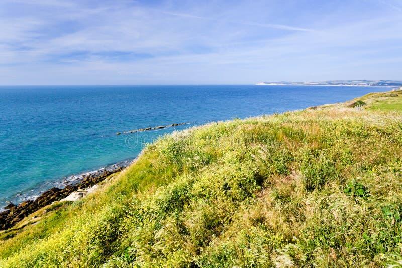 Ακτή Λα Μάγχη στη Νορμανδία, Γαλλία στοκ εικόνες με δικαίωμα ελεύθερης χρήσης