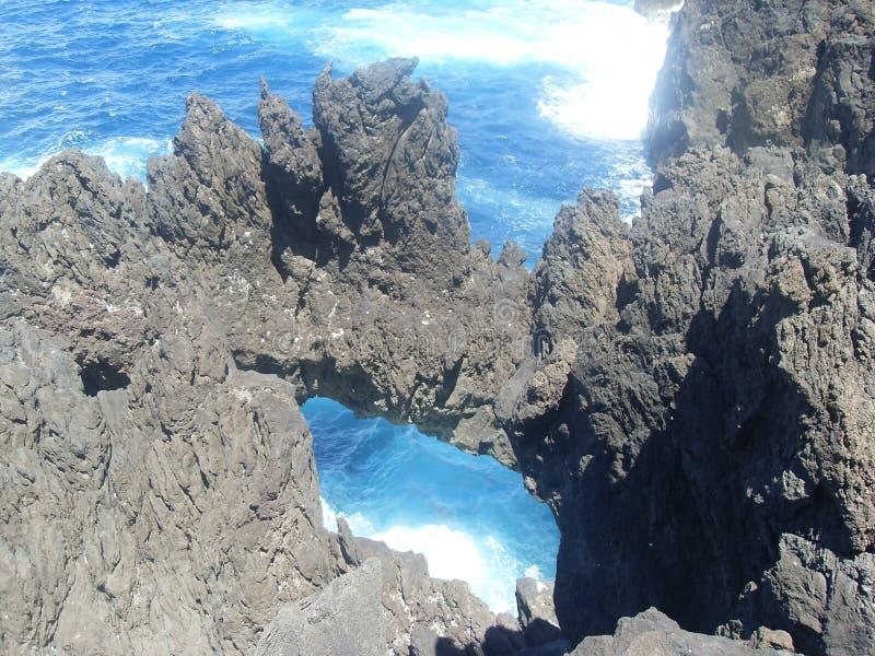Ακτή νησιών της Μαδέρας στοκ εικόνα