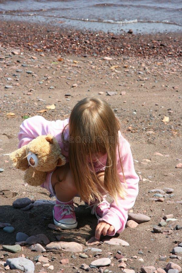 ακτή παιδιών στοκ φωτογραφίες